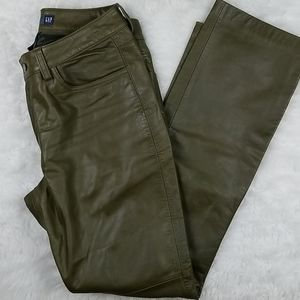 Gap bootcut Genuine leather pants